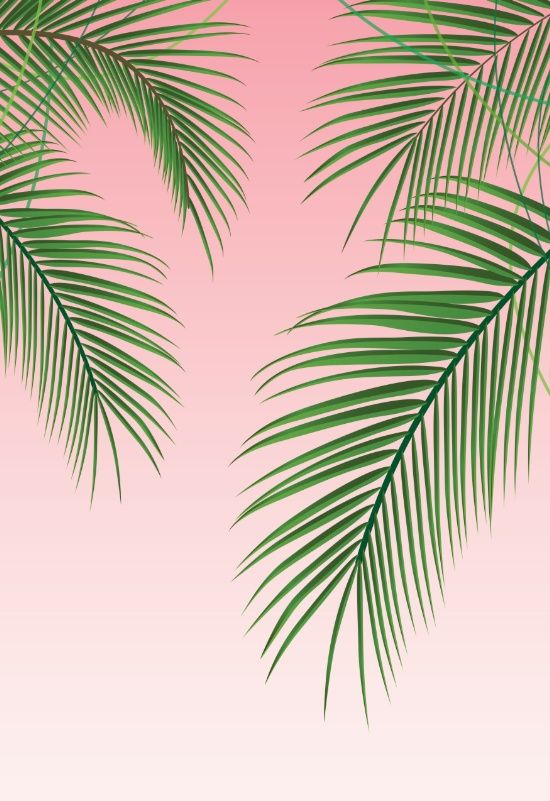 Palm Tree Leaves Art Print By Nicole C Society6 Palm Trees Wallpaper Palm Trees Painting Tree Wallpaper Iphone