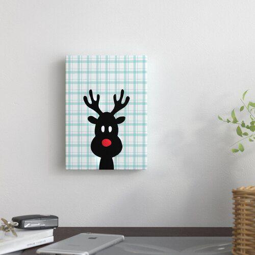 East Urban Home Leinwandbild Reindeer Christmas | Wayfair.de #reindeerchristmas