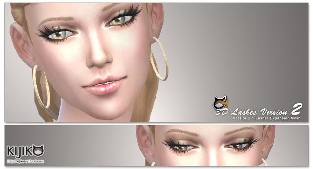 Sims 4 CC's - The Best: 3D Lashes by Kijiko-Sims