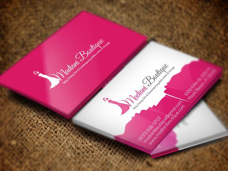 Madiani Boutique Business Card Boutique Business Cards Business Card Design Cards