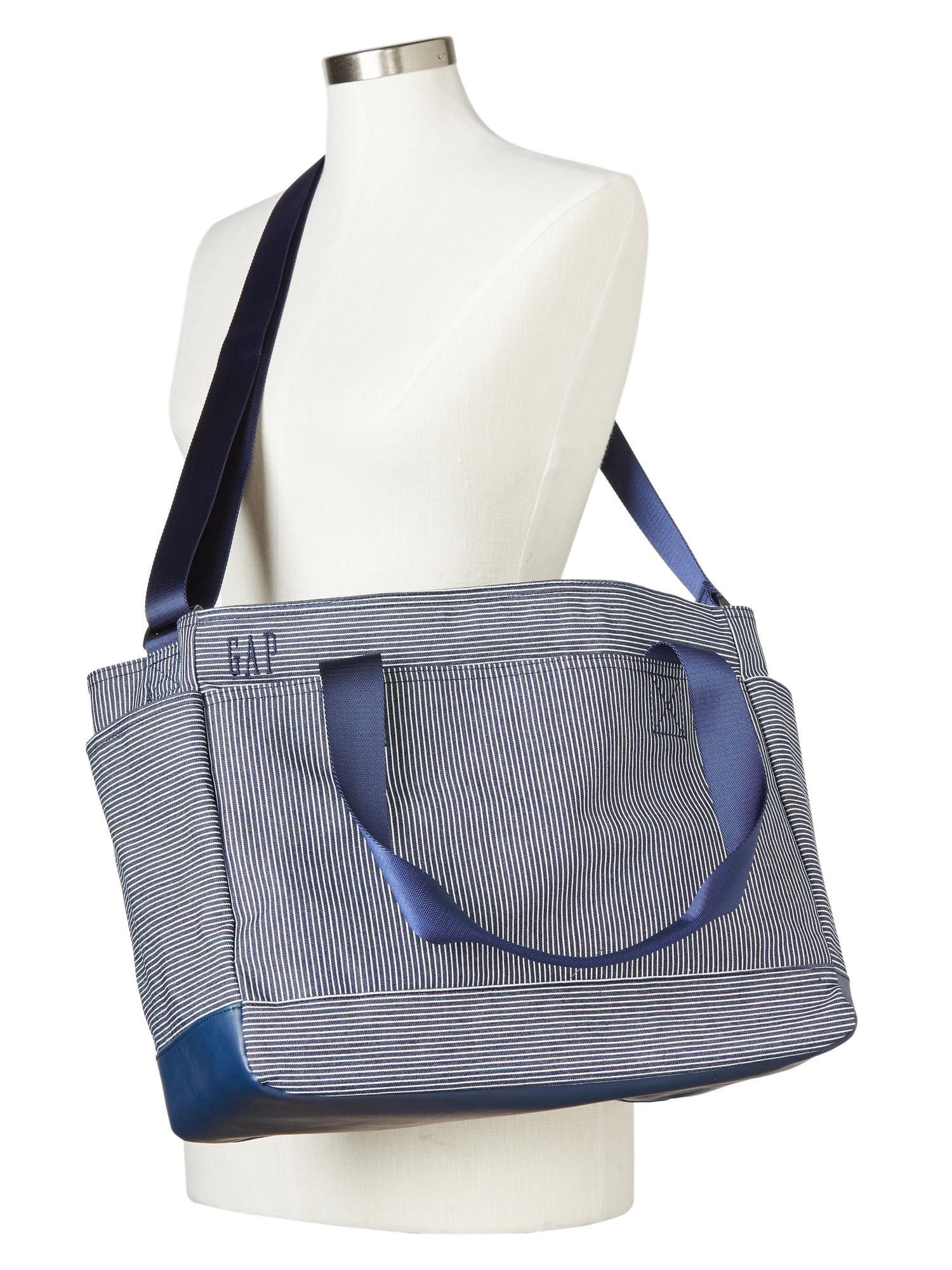2f5d6edf83 Gap Women Baby Girls Boys Railroad Stripe Diaper Bag - One Size ...
