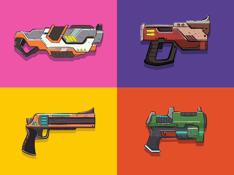 Final Space Guns Space Icons Guns Design Space Art