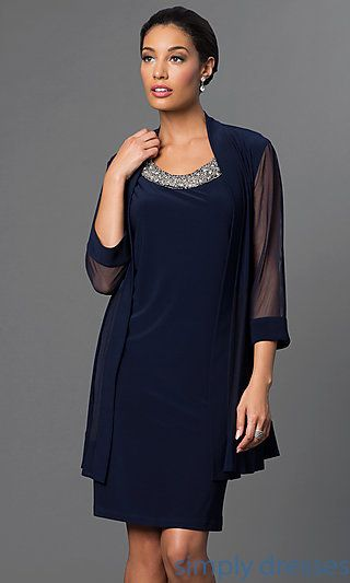 Beaded Neckline Mother Of The Bride Dresses And Semi Formal With Jackets At Simply We Have Beautiful Party