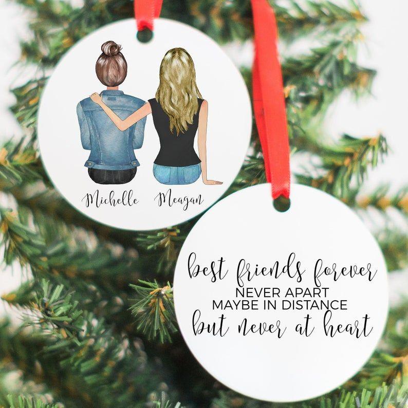 Personalized Best Friend Ornament Friend Christmas Gift Etsy Friend Christmas Ornaments Friend Birthday Gifts Friend Christmas
