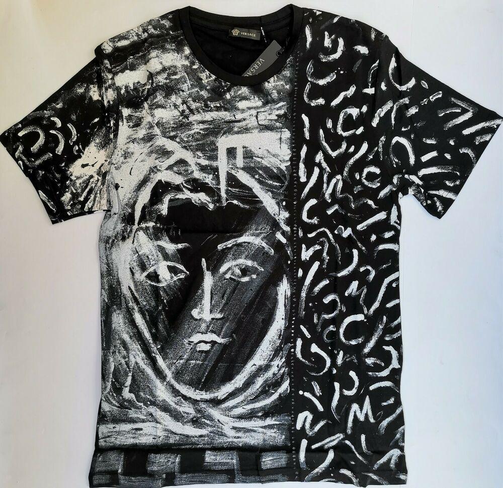 Versace Collection Men/'s Black Graphic Print T-Shirt Sz S M L XL 2XL