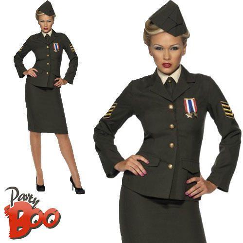 Ww2 1940s Army Officer Uk 24 26 Plus Size Uniform Ladies Fancy Dress