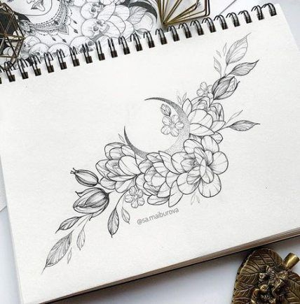 Best tattoo moon flower ideas