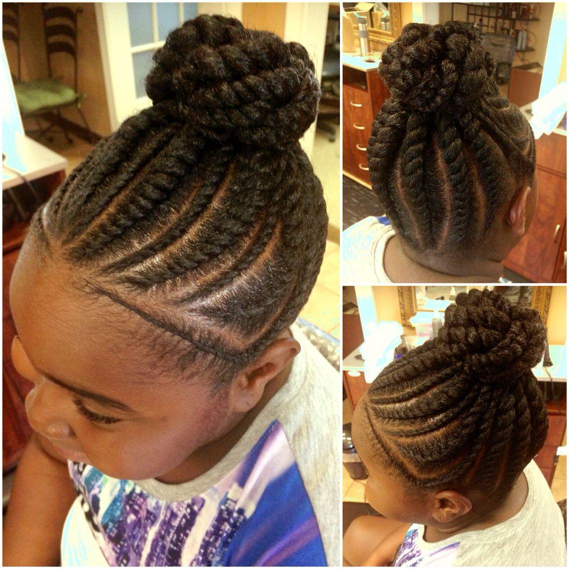 Flat Twist Bun L Hair Dos Hair Styles Natural Hair
