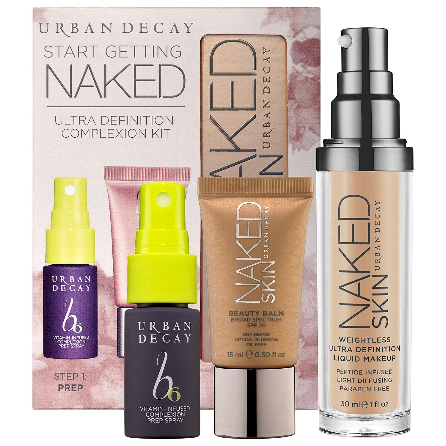 Urban Decay Start Getting Naked Ultra Definition Complexion Kit Lamp039oreal Infallible Total Cover Foundation Sephora Coloriq Makeup