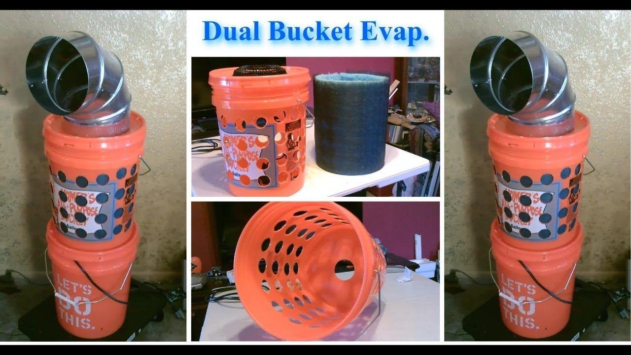 Diy evap air cooler dualbucket evap cooling tower