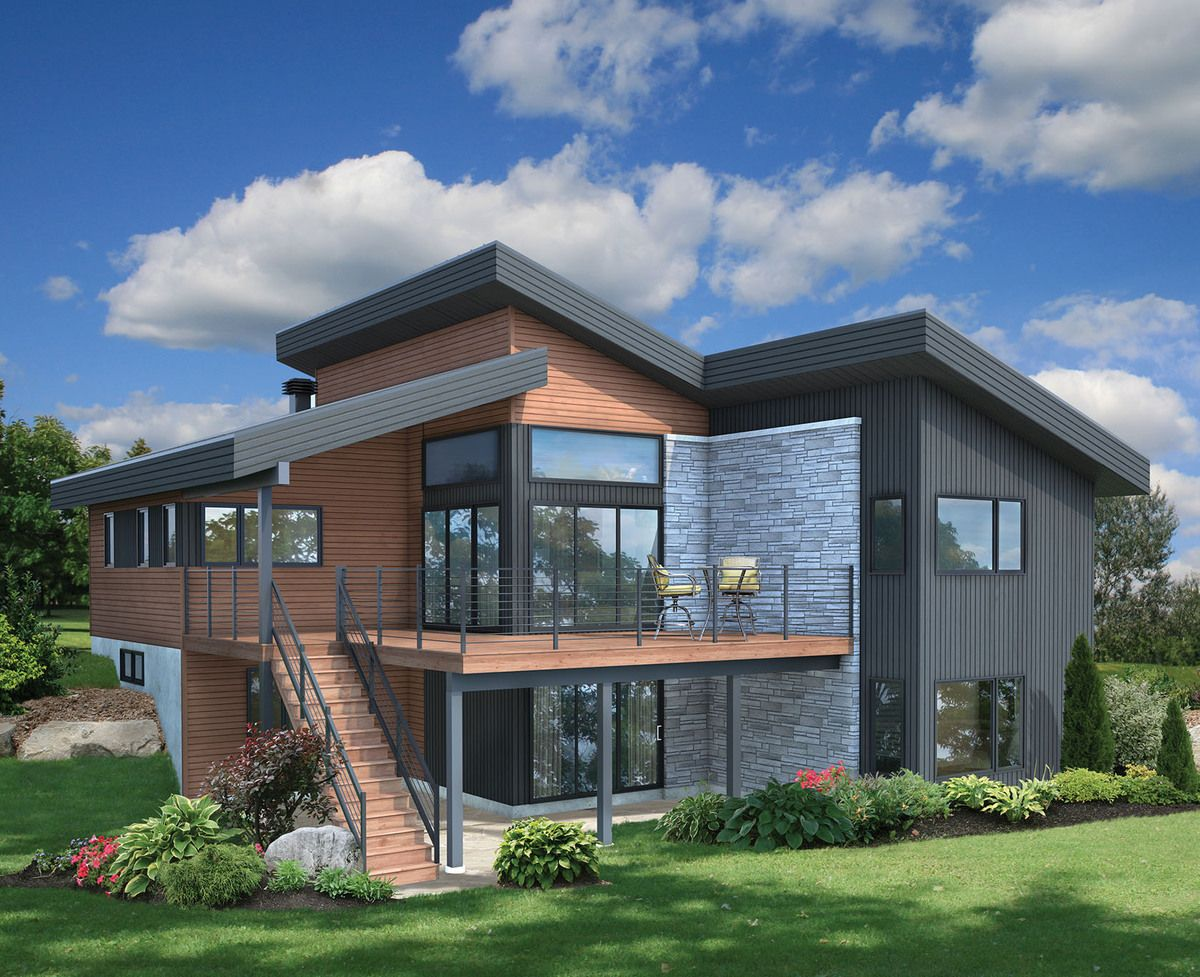 Plan 80778pm Contemporary Vacation Getaway Modern House Plans Architecture House House Architecture Design