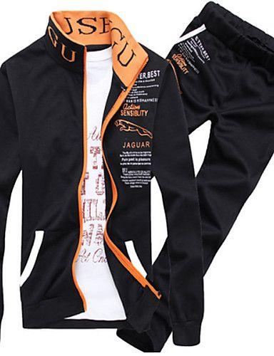 9bd0e690f Conjuntos Activewear De Hombres Casual Estampado Algodón Manga Larga –  TaFull E-Commerce