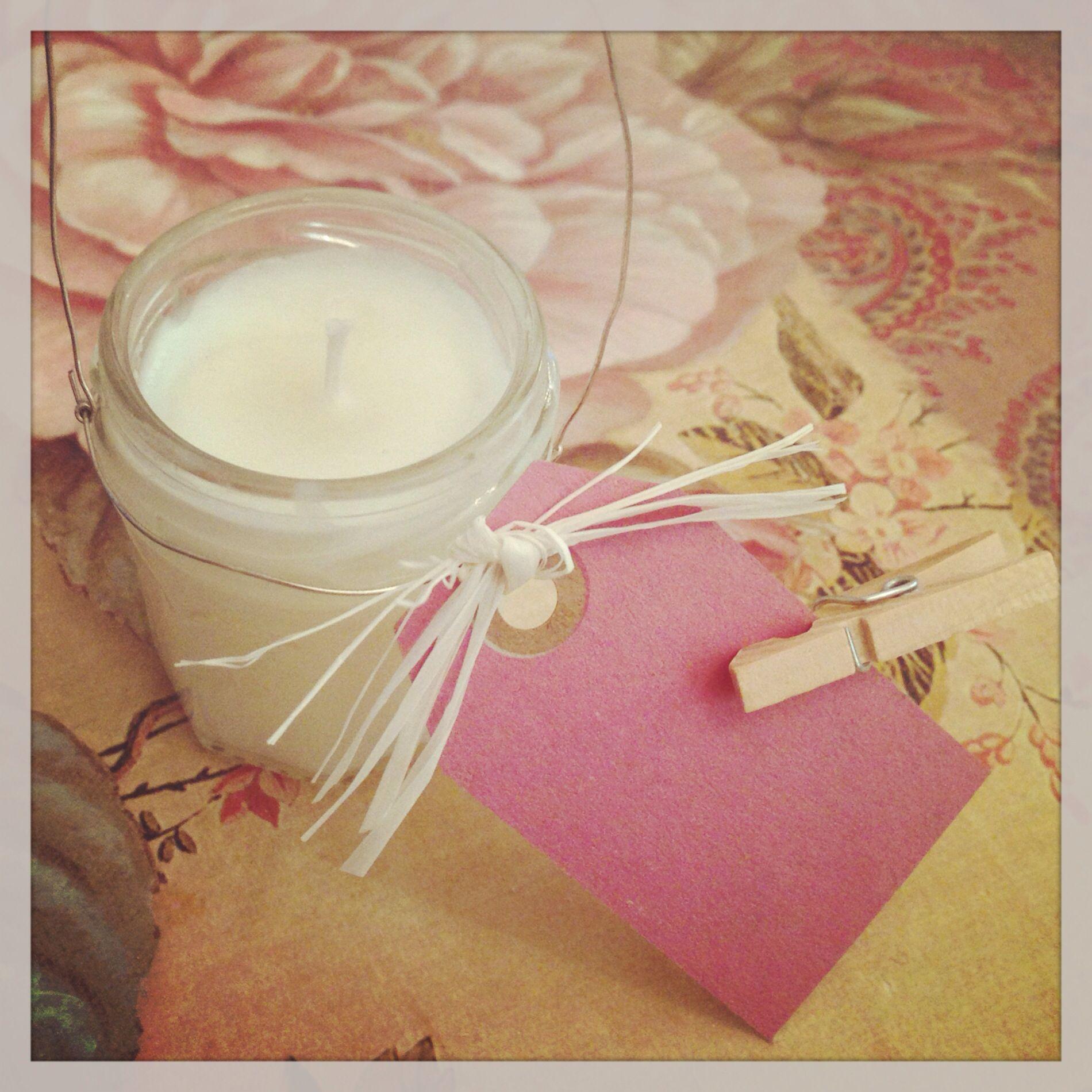 Cute mini jam jar candle | Handmade wedding favours | Pinterest ...