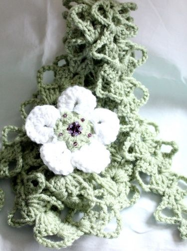 Bruges Lace Hand Crochet Summer Scarf or Belt With Pin Or Brooch | Meylah