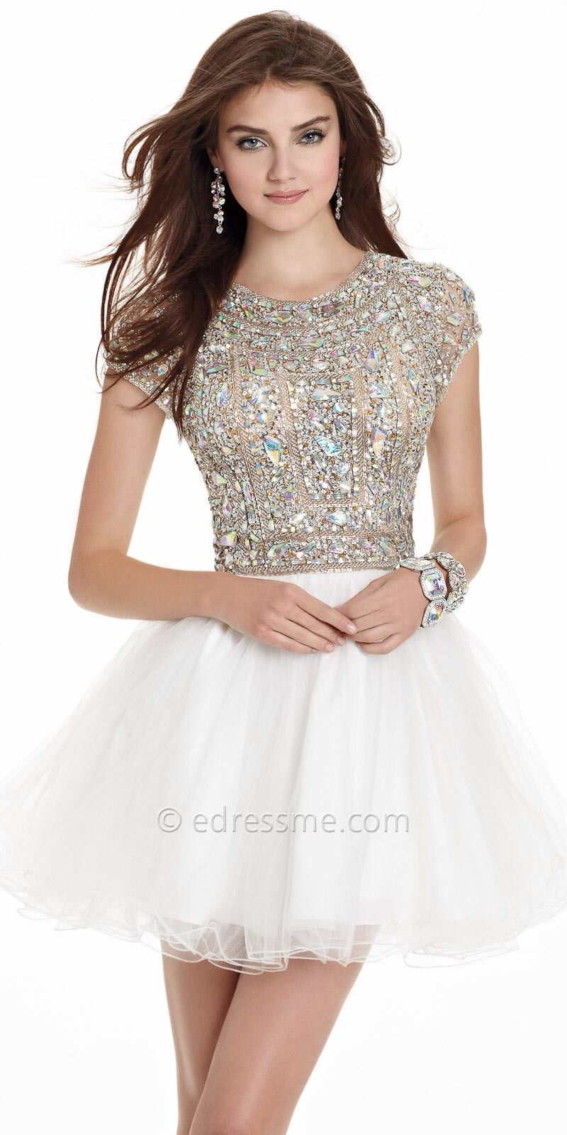 White and gold prom dress | Prom | Pinterest