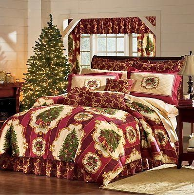 85 99 Tree Comforter Set 4pc, Queen Size Holiday Bedding