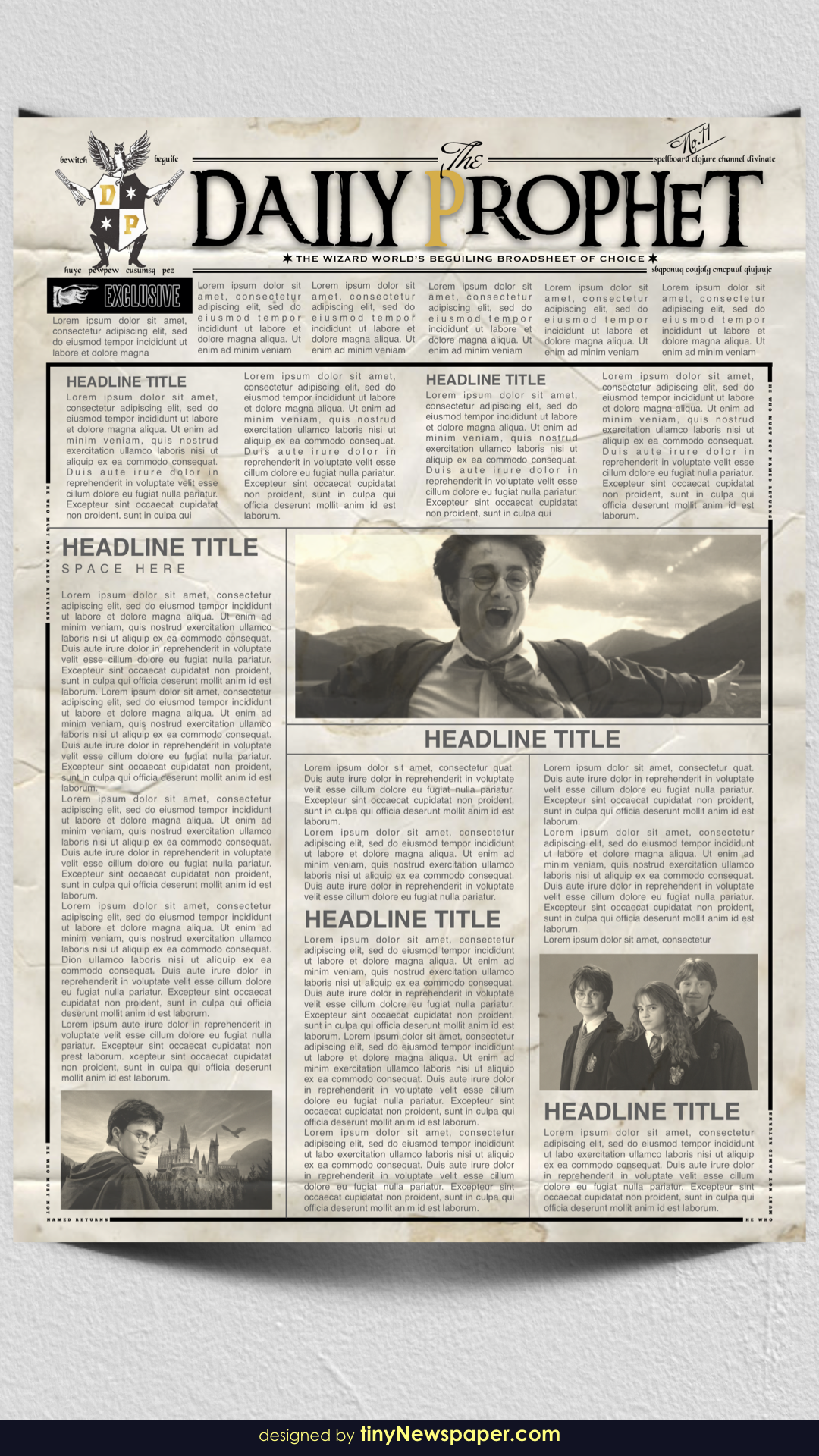 Harry Potter Daily Prophet Newspaper Newspaper Template Newspaper Format Newspaper