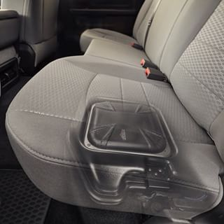 What's hiding under your seat? #VSS #RAM #kickeraudio #vehiclespecificsolutions #caraudio #plugandplay #easyinstall #livinloud