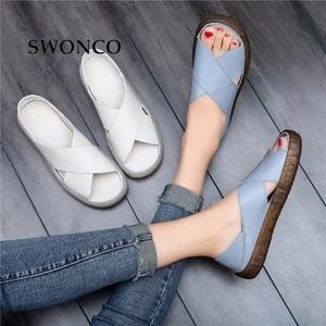 99d35af708b SWONCO sandalias de las mujeres 2019 verano Casual zapatos de mujer zapatos  planos de mujer de
