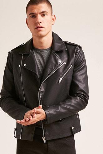 f7b20cce0 Faux Leather Moto Jacket | Products | Jackets, Moto jacket, Leather