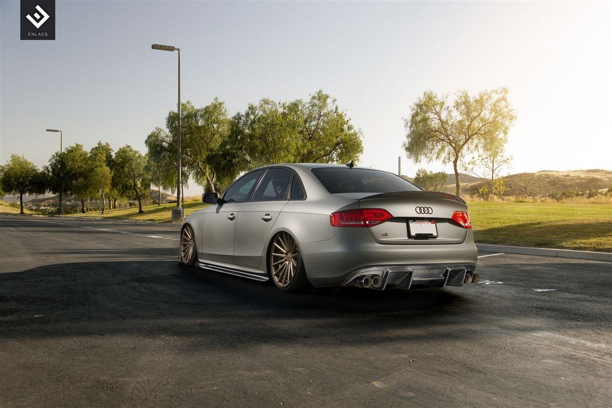 Enlaes Audi B8 S4 A4 Rear Diffuser Carbon Fiber Audi Carbon Fiber Fiberglass