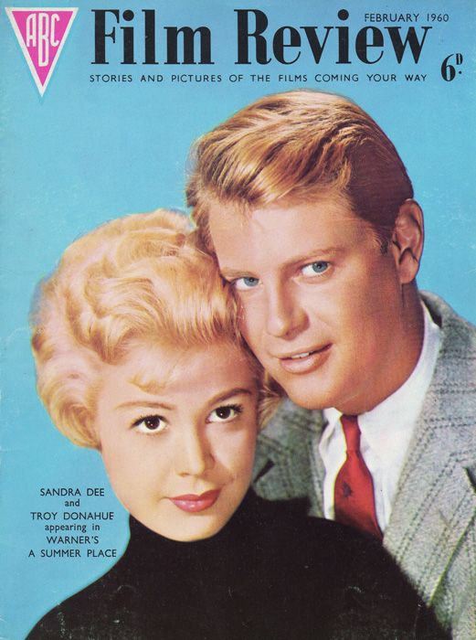 Sandra Dee And Troy Donahue On The Front Cover Of Film Review
