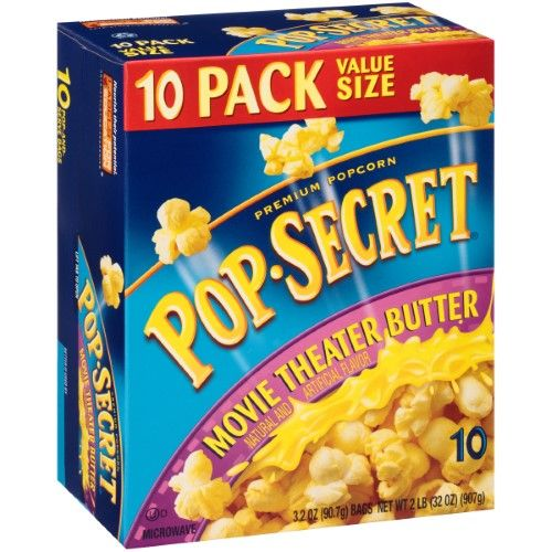 Pop Secret Movie Theatre Butter Flavor Microwavable Popcorn 10 Count 32 Ounce Box Flavors Popcorn Recipes Wholesome Ingredients