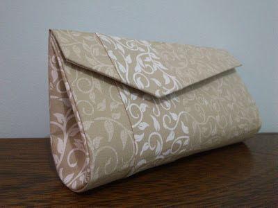 3472f5ba6 Cartonagem - Bolsa Carteira de Festa (bege e branco) | пошив сумок ...