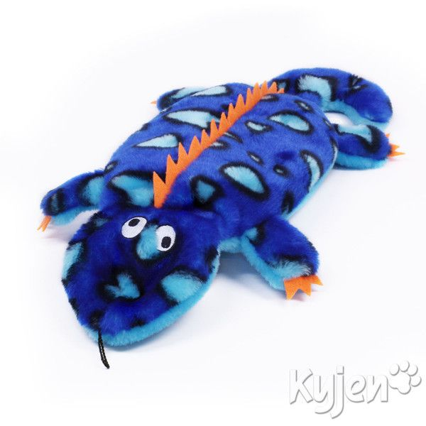 Indestructible Dog Squeaker Toy The Invincibles Gecko With