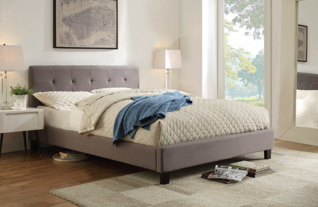 Bagley Queen Upholstered Platform Bed Furniture