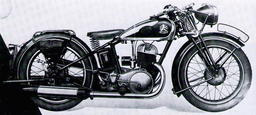 Twn Triumph S 350 346cc 11hp Own 2 Stroke 1936 1938 Germany Classic Motorcycles Twin Models Vintage Motorcycles