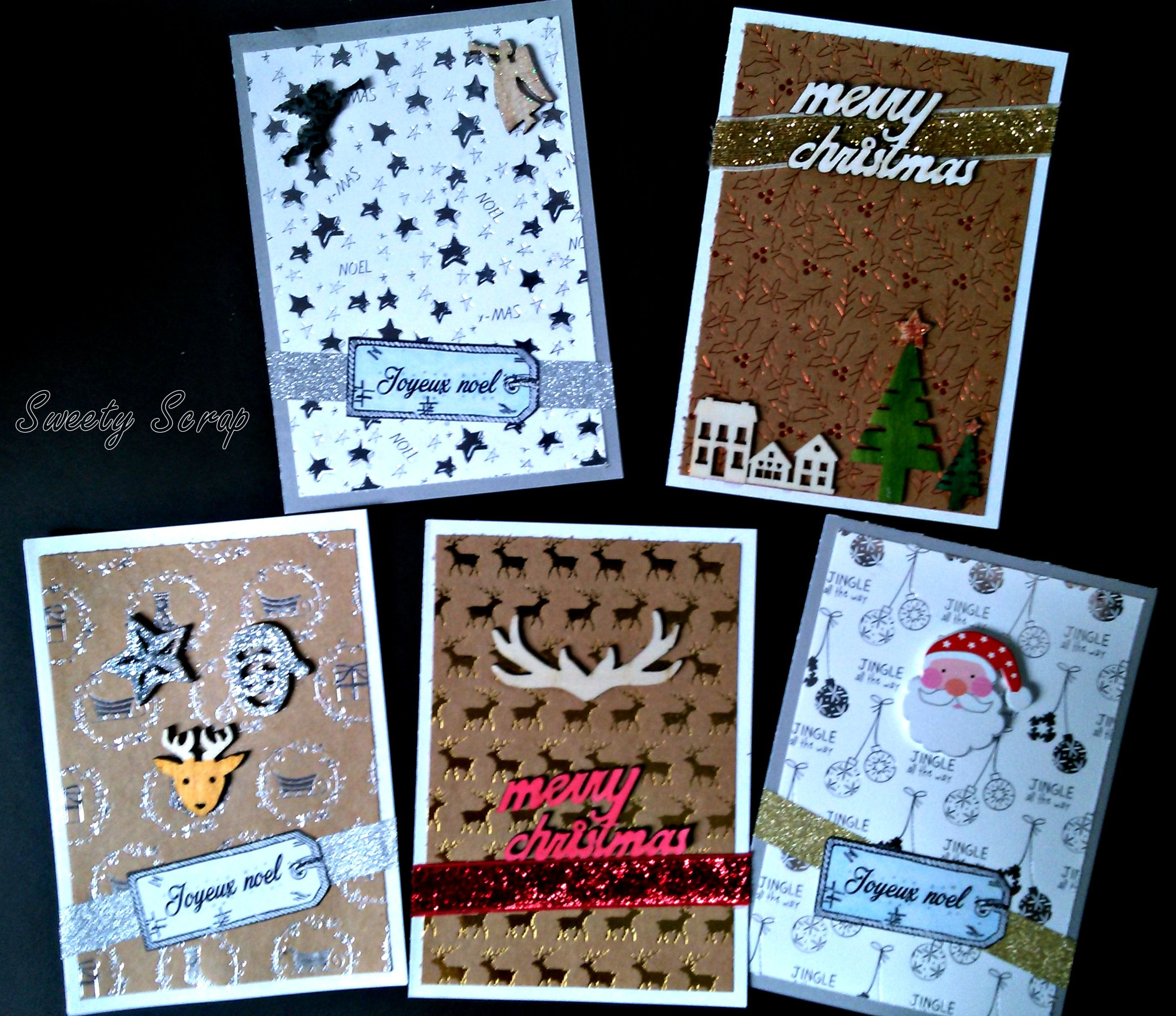 scrapbooking papier action carte 002 carte noel mes cr ations cartes in pictures. Black Bedroom Furniture Sets. Home Design Ideas