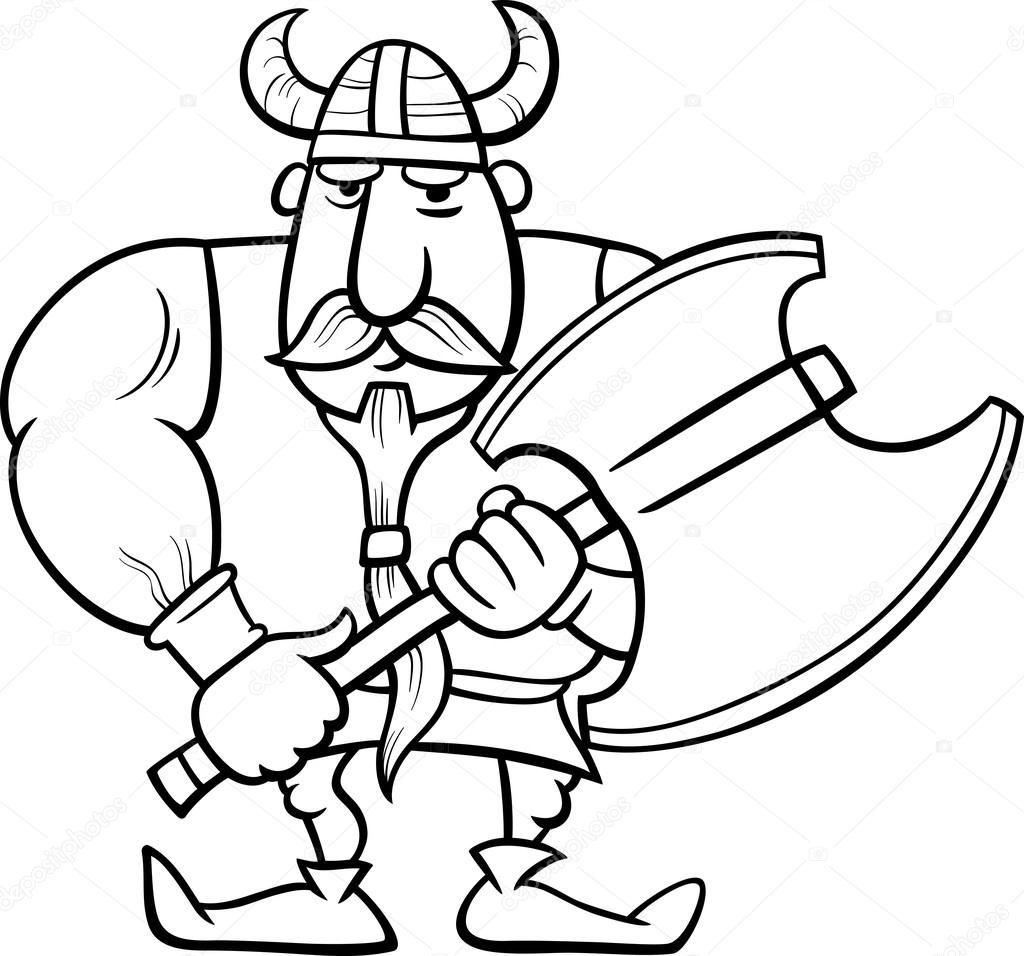 Pin En Dibujos De Vikingos Para Colorear