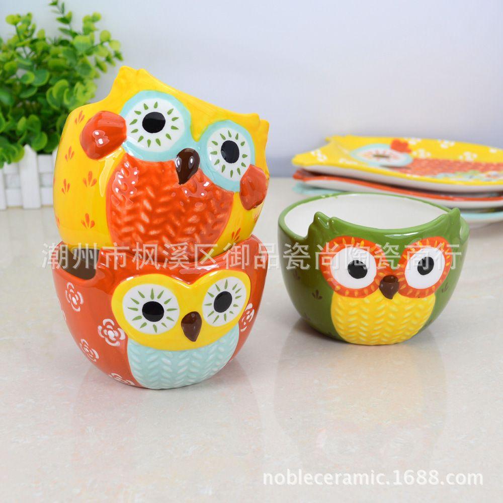 New Foreign Trade Hand Painted Ceramic Bowl Bowl Creative Person Hand Painted Ceramics Ceramic Painting Ceramic Bowls