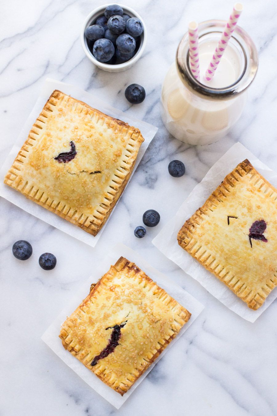 GlutenFree Blueberry Hand Pies is part of Blueberry dessert Gluten Free - With fresh berries plentiful, hand pies (a k a  turnovers) are summer's perfect portable dessert  Check out our glutenfree blueberry hand pies