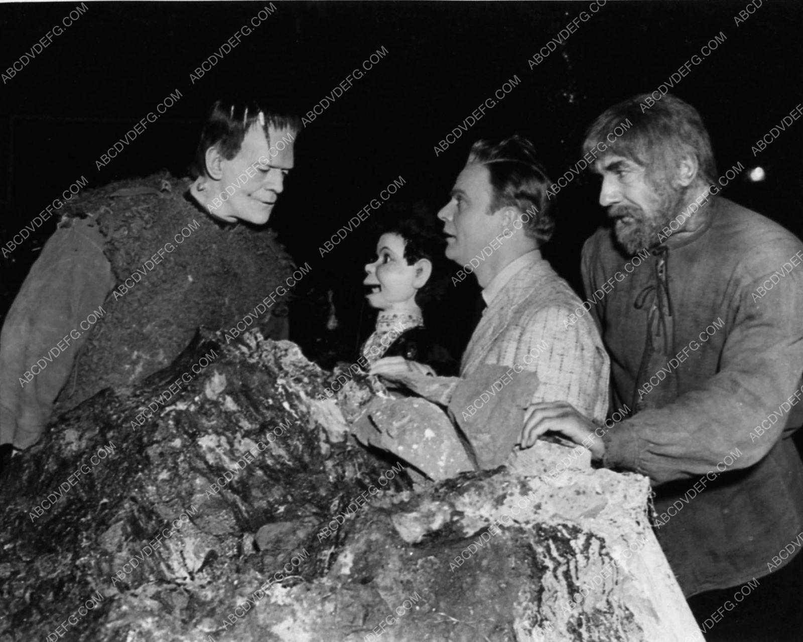 Edger Bergen Charlie McCarthy Visit Boris Karloff Bela Lugosi - 14 behind scenes photographs