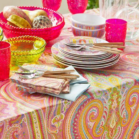 PAISLEY LAMINATED TABLECLOTH   Tablecloths U0026 Napkins   Tableware | Zara  Home United Kingdom