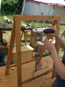 a simple a-frame loom for sprang