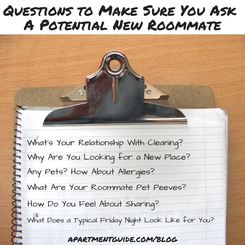Questions To Ask When Looking For A Roommate This Or That