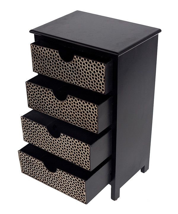 Look at this Four-Drawer Honeycomb Chest on #zulily today!