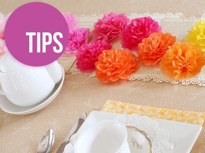 DIY: Flores con papel de china en 4 pasos