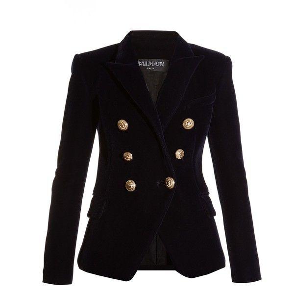 Balmain Six-button Double-breasted Velvet Blazer ($1,970