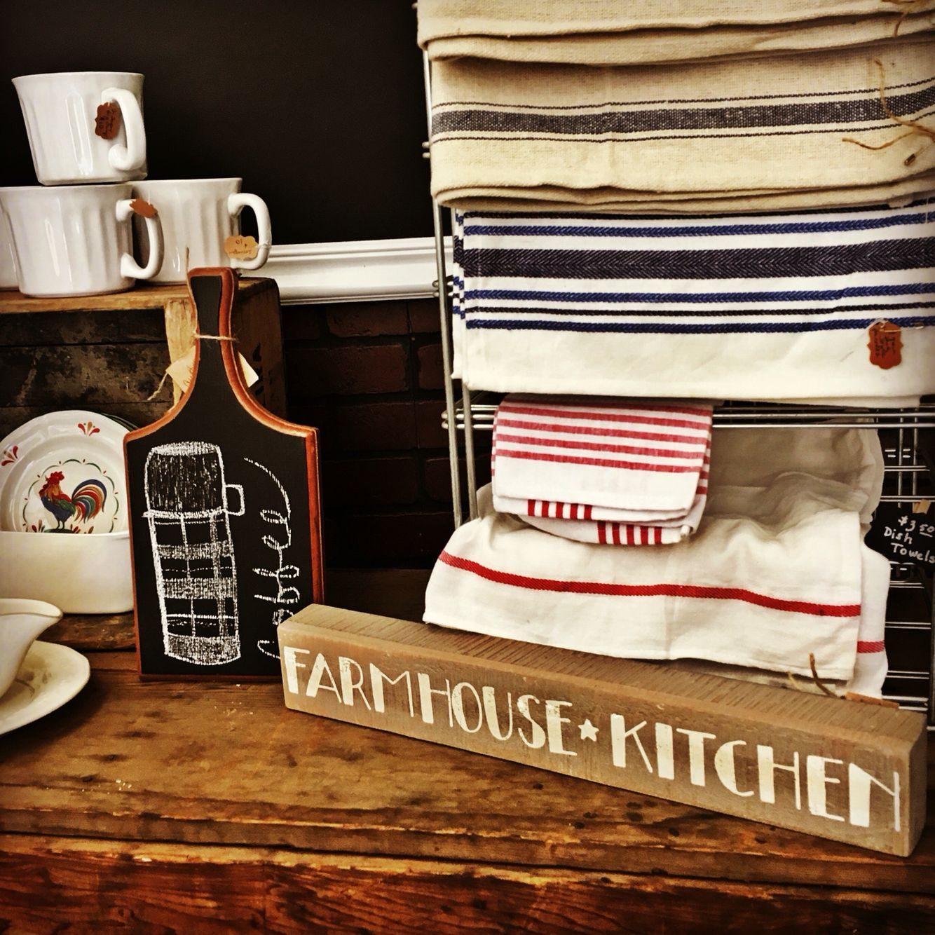 My little shop lots of Farmhouse swag in stock!! House