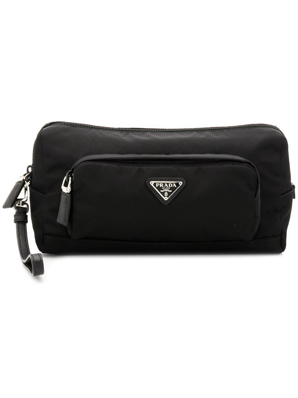 d40c169f4fe3 PRADA PRADA LOGO WASH BAG - 黑色. #prada   Prada   Wash bags, Prada ...
