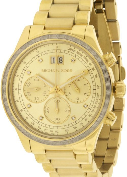 5ff9dc0ac7ce Gold-tone stainless steel case and bracelet Gold dial with gold-tone hands