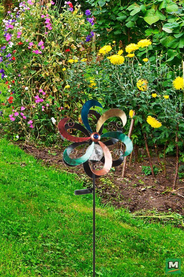 Patriot Lighting® Solar LED Swirl Spinner Garden Light ... on Patriot Outdoor Living id=41974