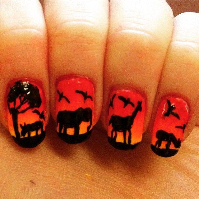 """#emmacarrnails safari nails #nailart"" Photo taken by @emmacarrnails on Instagram, pinned via the InstaPin iOS App! http://www.instapinapp.com (04/13/2015)"