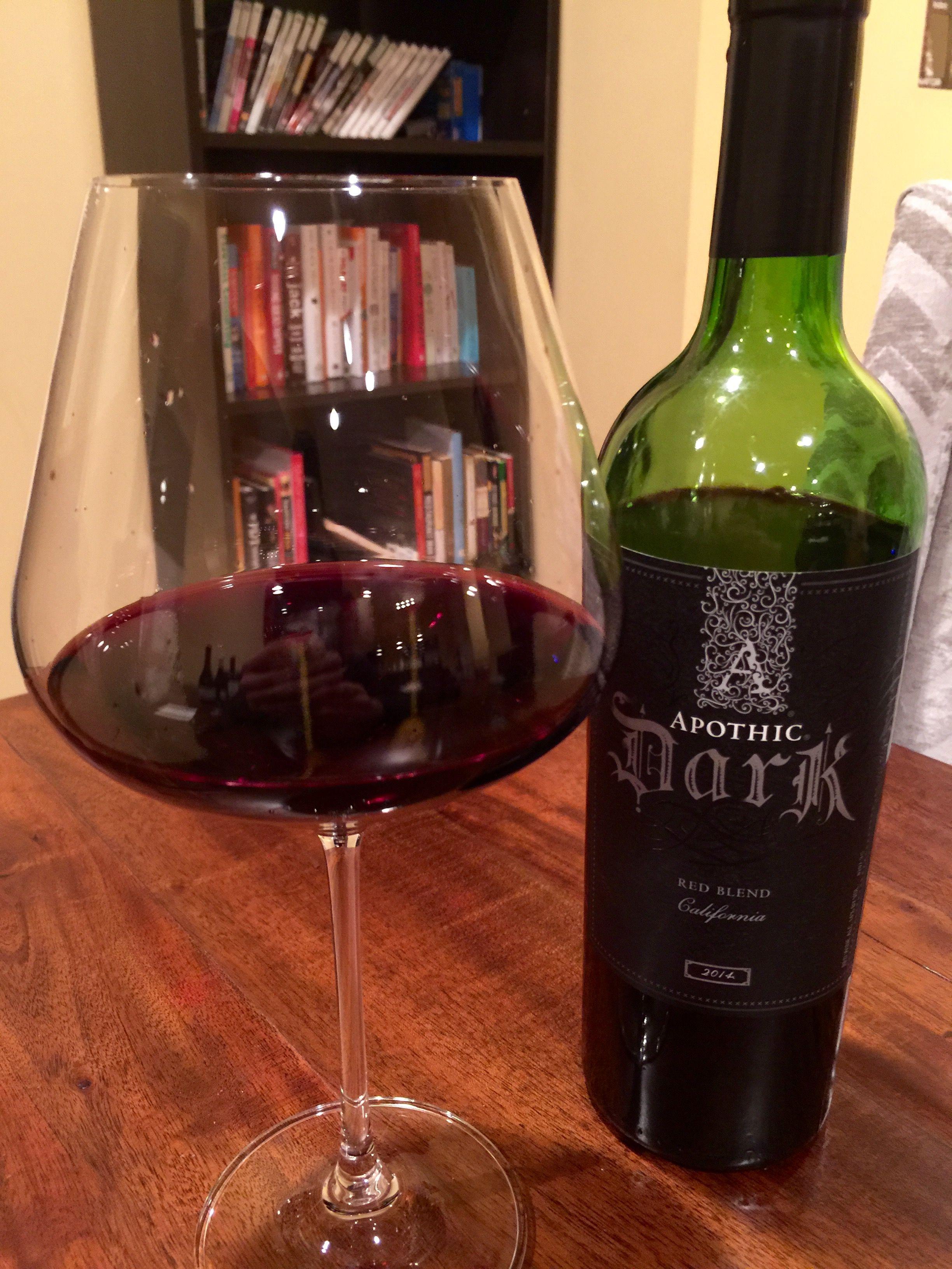 Apothic Dark 2014 Red Wine Alcoholic Drinks Dark