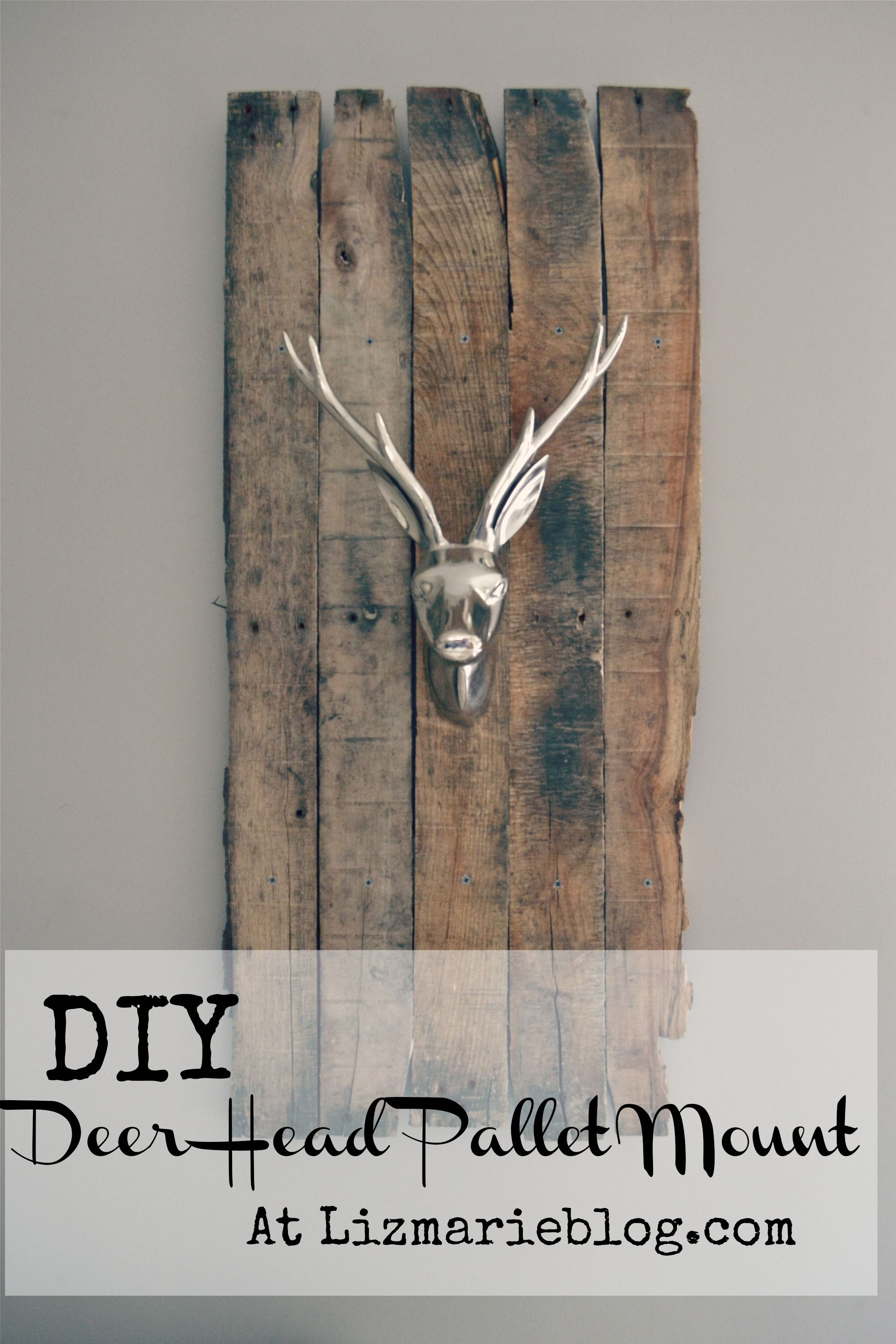DIY Deer Head Pallet Mount