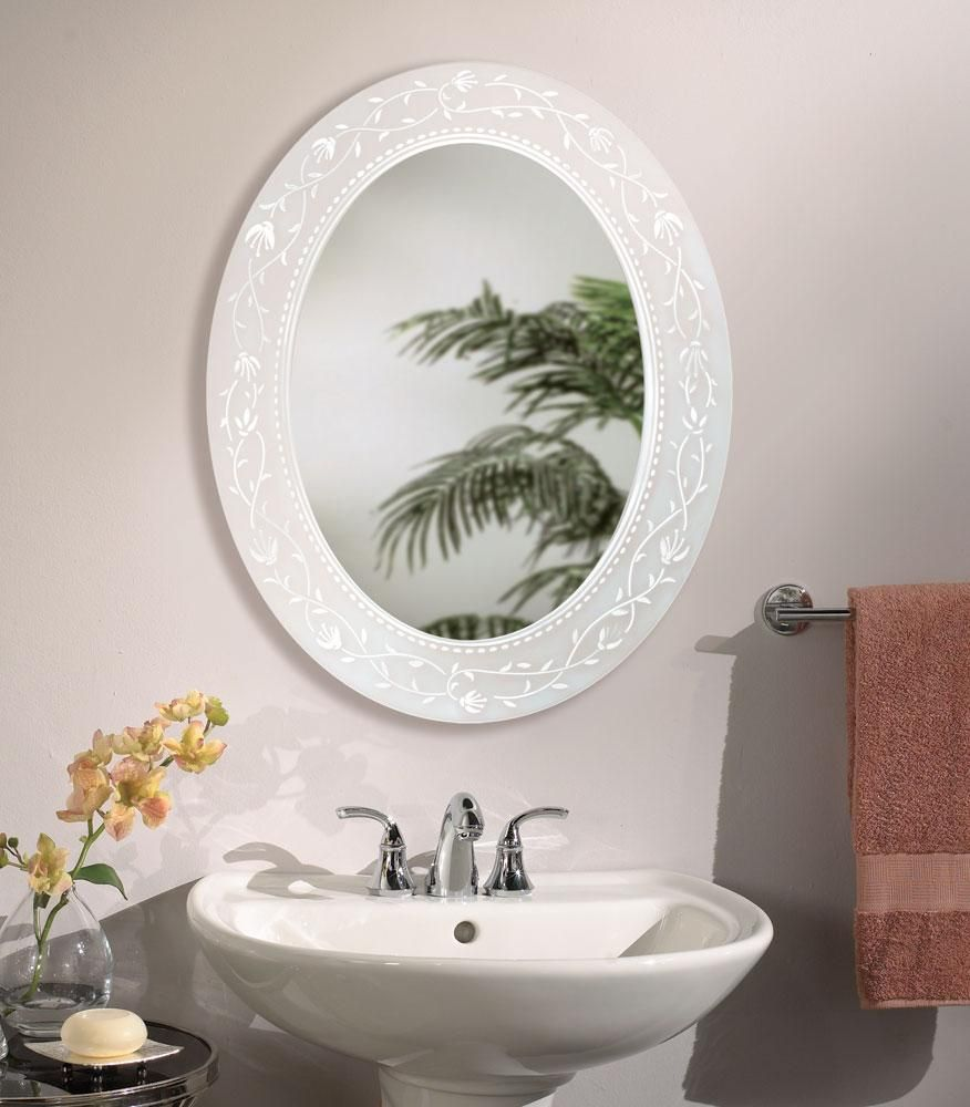 Fuschia Oval - Bathroom Mirror | Bathroom Mirrors | Pinterest | Oval ...